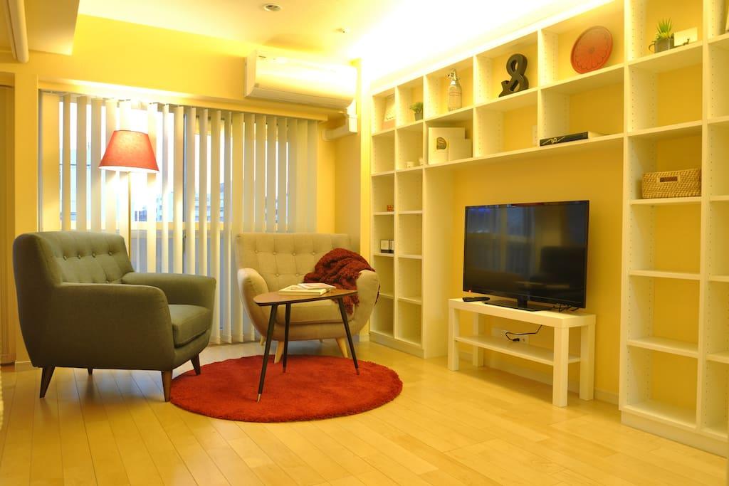 Cozy TV corner to relax