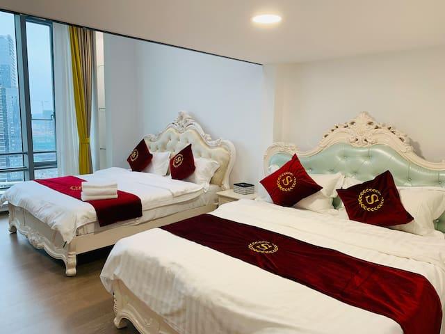 珠海横琴口岸 长隆海洋王国 景观复式双床房