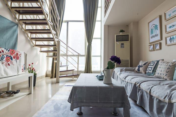 【壹見】宽窄巷子旁北欧风格loft  每个房间都是一个小宇宙 - Chengdu - Lejlighed