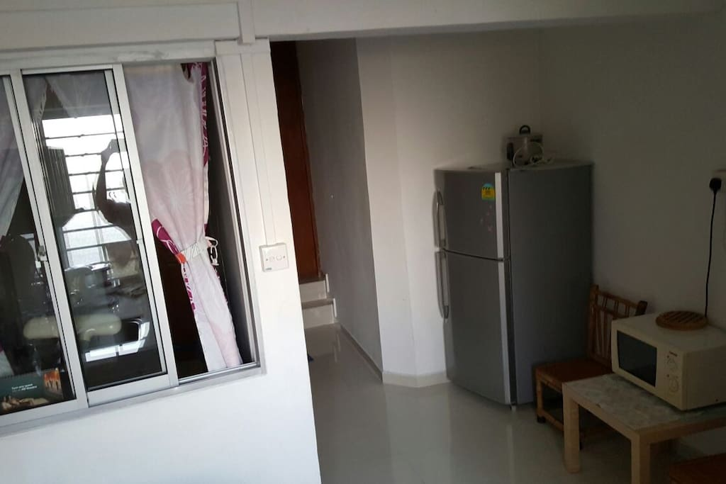 Personal Corridor with microwave and fridge. Personal Kitchen as well.