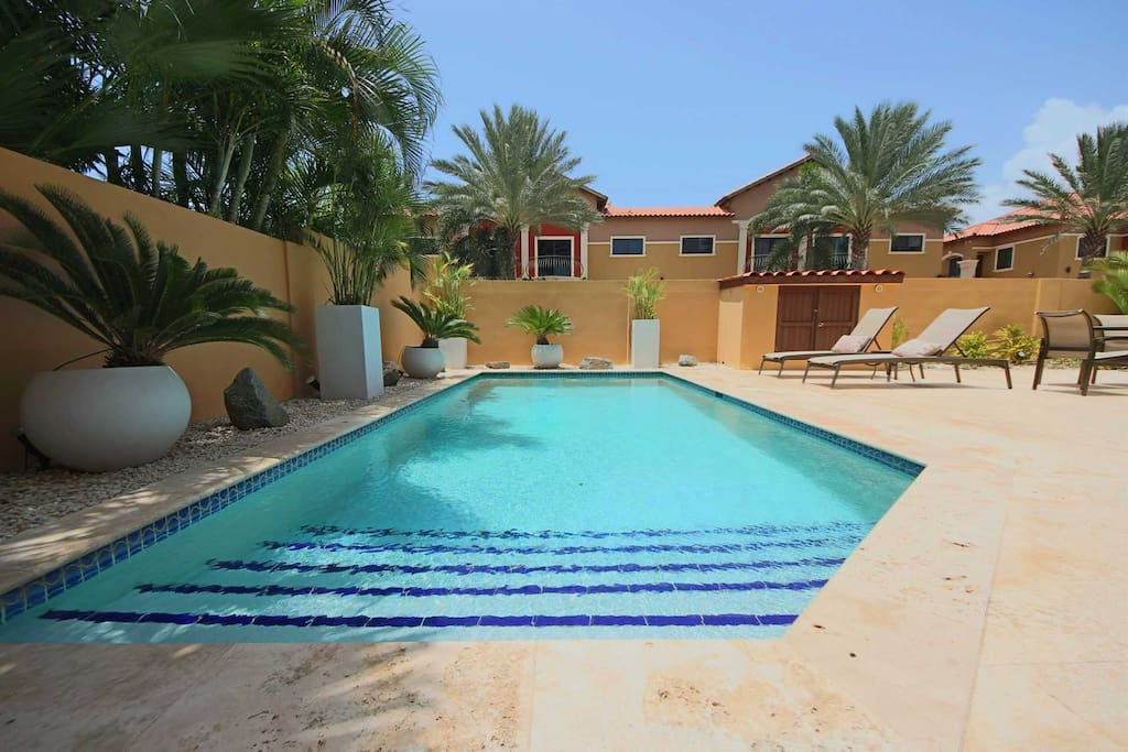 Indulge in your private swimming pool with your whole family