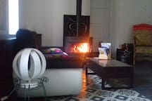 Espace salon, hébergement Colchique