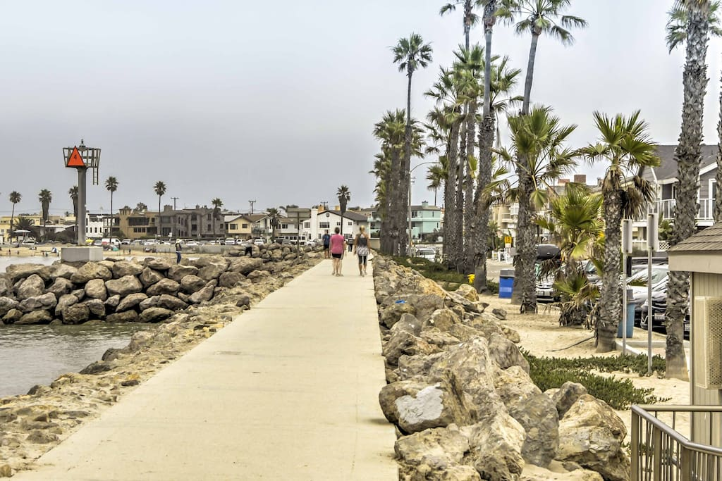 You'll be just 1 block from the beach and Channel Islands Harbor!