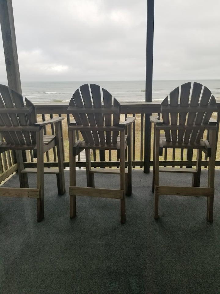 Ocean Front Condo 5B Hatteras High
