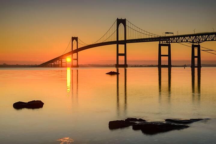 Bridge view in the distance