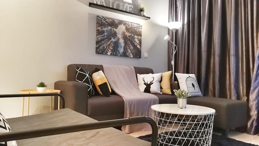 GRC2723 Cozy Modern Homestay (3min Paradigm Mall)