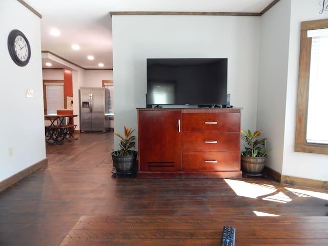 """55"""" Smart TV in living room"""