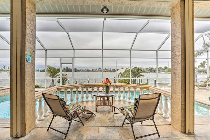NEW! Lakefront Home w/ Saltwater Pool & Spa, Dock!