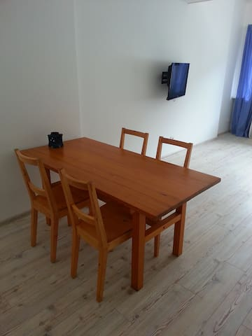 Living room. Dining table.