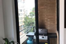 SMALL BALCONY WITH BBQ