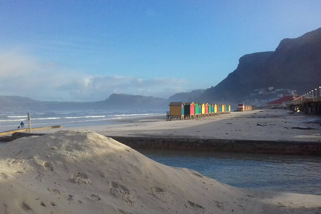 Iconic changing booths. Muizenberg.
