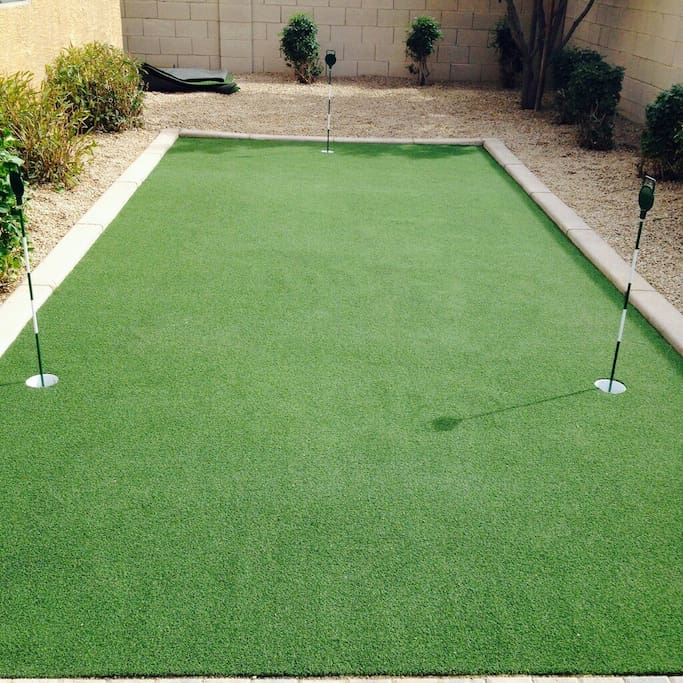 Practice your putting skills