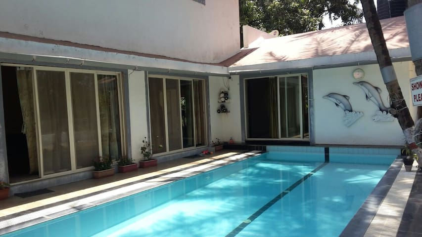 River facing 5bhk villa with a pool near lonavla - Pen