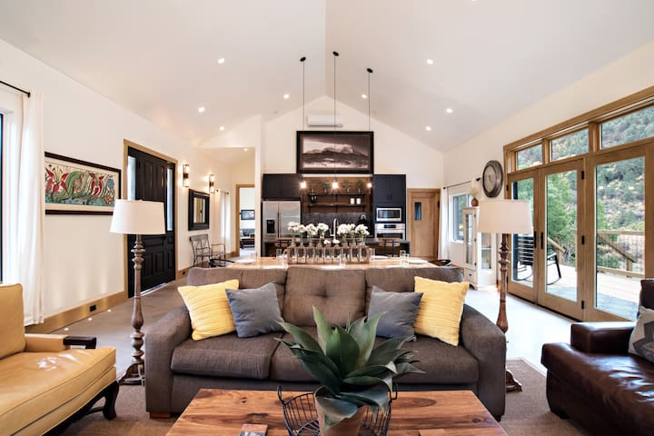 Modern Farmhouse with Private Creek and MTN Views!
