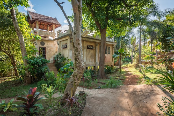 Spacious Sugarcane-Villa with roof-terrace