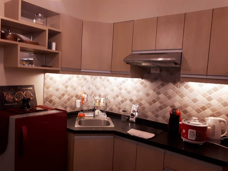 Kitchen with led lights