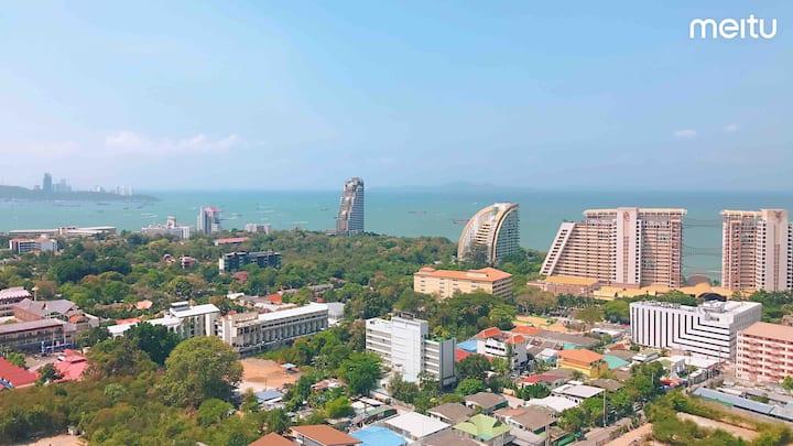 F6 Lumpini海景公寓/无边泳池/健身房/24小时双条车/市区接客入住,订房加V:A0ZJ20
