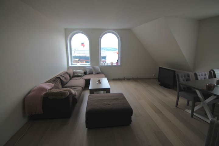 Central 2 floor Penthouse with great ocean view - Bergen - Apartment