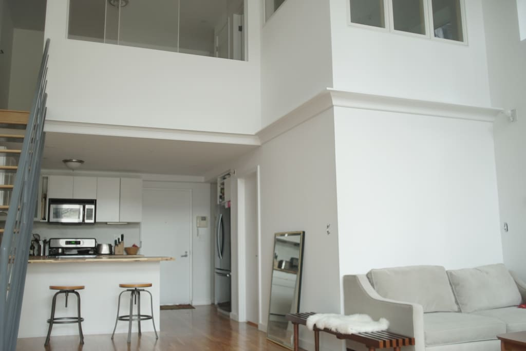 20ft ceiling with lots of natural light