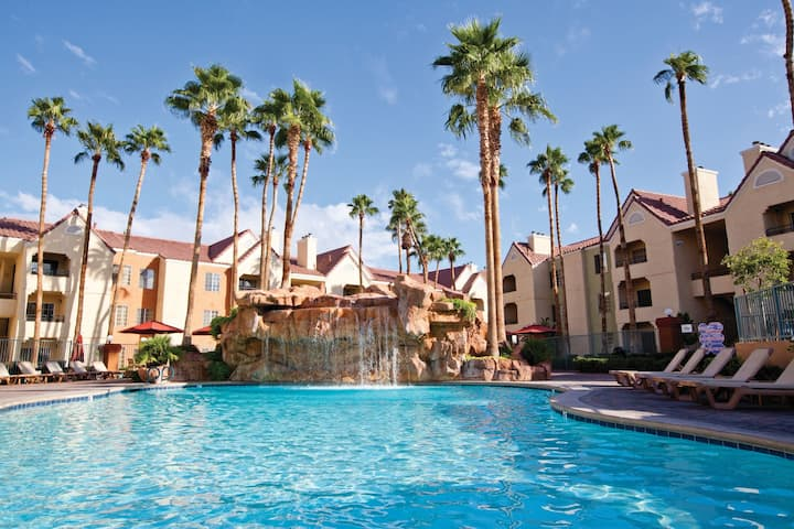 Quiet Villa Near the Strip with FREE Shuttle Access | Pools, Hot Tubs, and More!