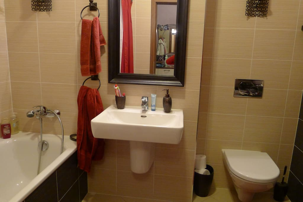 This is the shared bathroom.