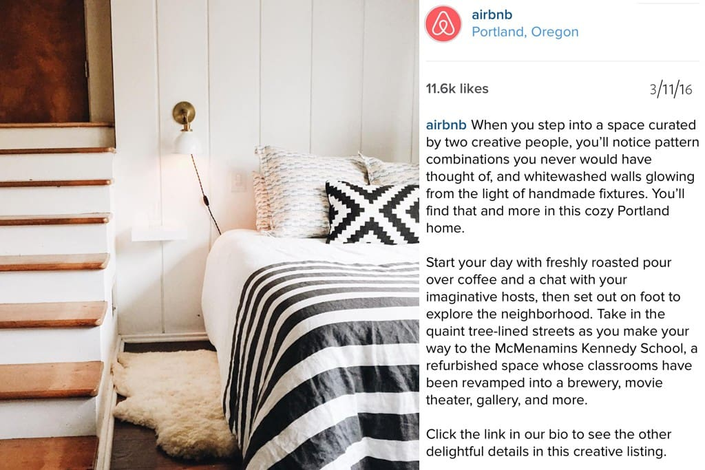 we were featured a 2nd time on @airbnb's instagram, this time with a heartwarming story from a guest.