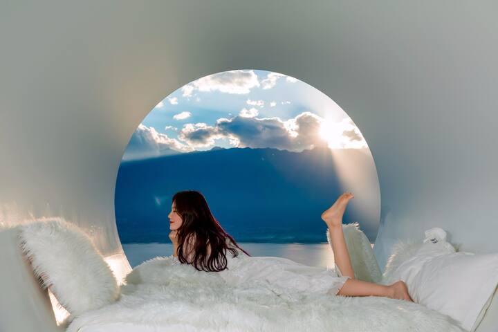 私享天空之镜|两居4人,亲友出行必选|入住两晚免费接送|海景双卧套房|暖气|免费停车
