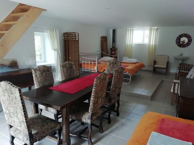 """grand séjour chambre 4""""Côme et Victor"""",  au RC, côté sud, 3 lits"""