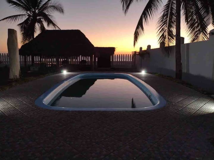 Casa Blanca, Playa Matanchen, Pool, On the Beach