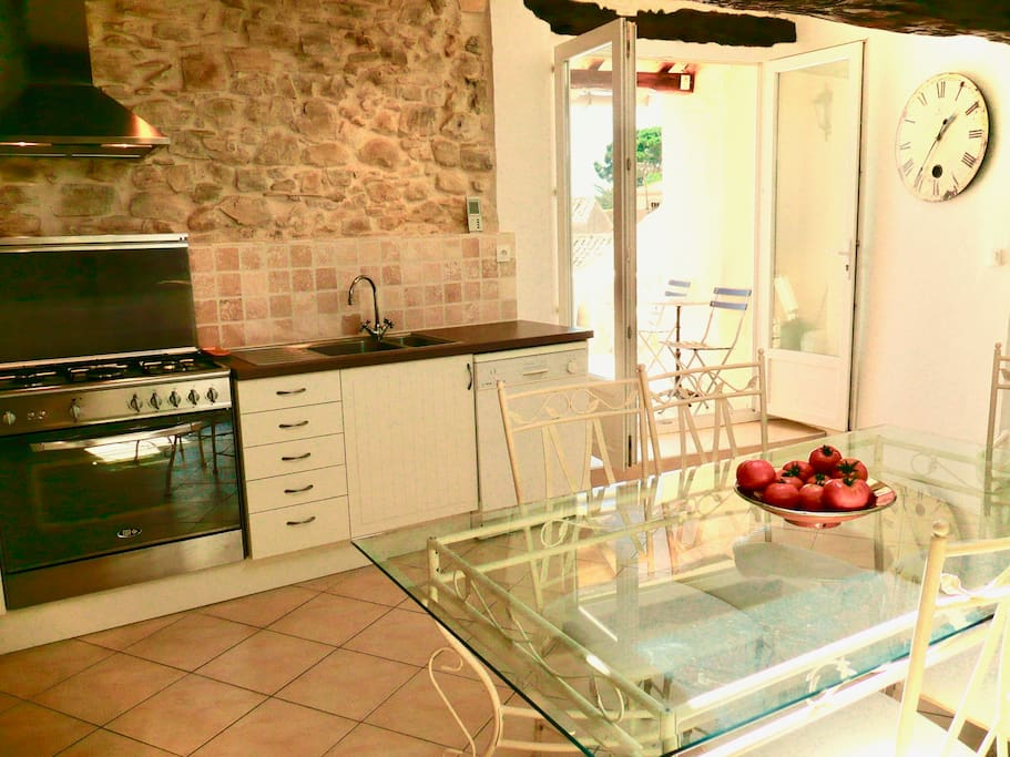 Large open fully equipped kitchen
