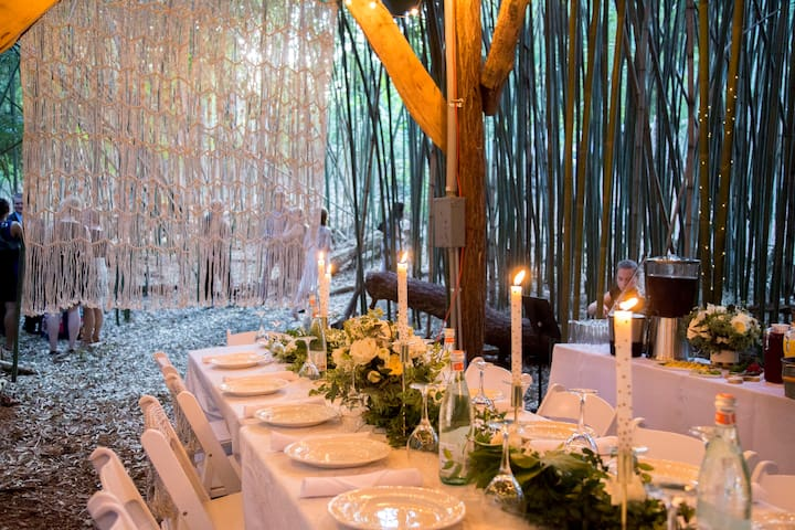 Intimate dinner underneath the treehouse was magical and incredibly private.