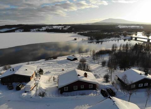 Hedeviken skidåkning, fiske och bärplockning