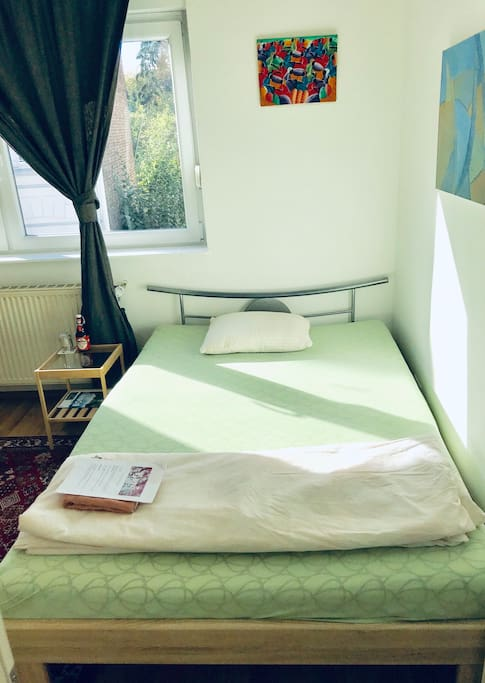 Comfortable guest double bed.