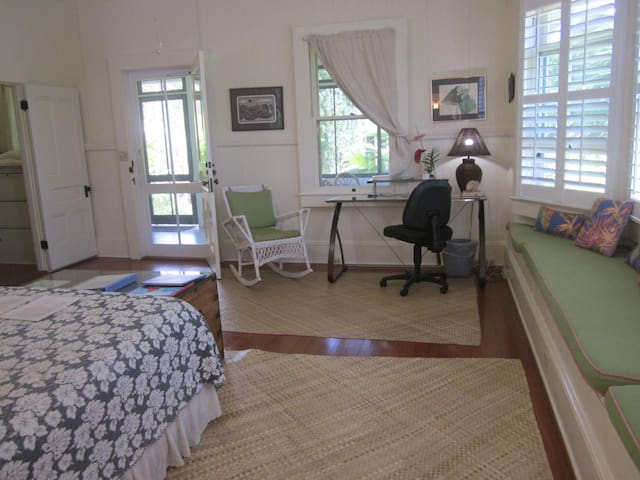 Each guest room has a generous-sized computer table and free Wi-Fi in the Shipman House Guest Cottage.