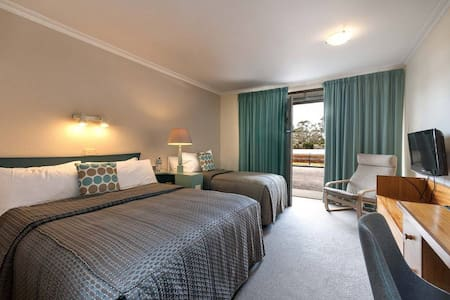 This is one of our Classic rooms, suitable for up to 3. A queen and a single bed.