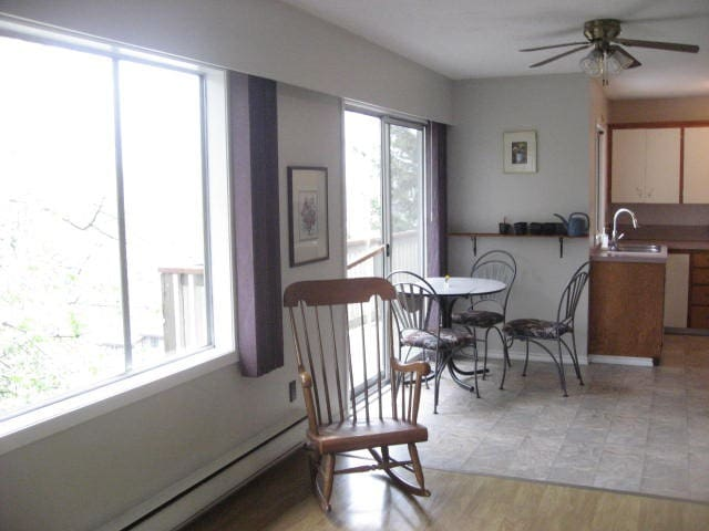 South facing sunny clean home, convenient locale
