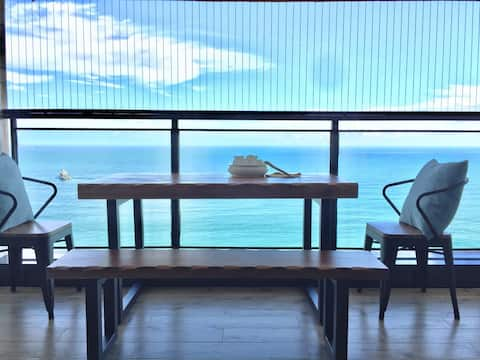 南澳优典•180度全海景大阳台•极简冷淡风•双床房