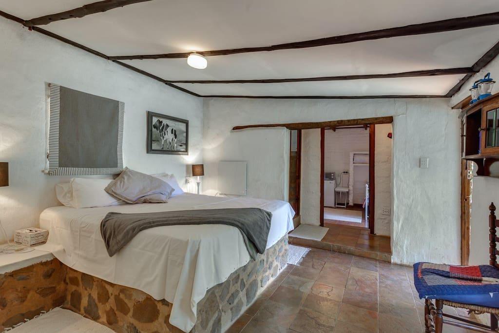 Main bedroom in cottage