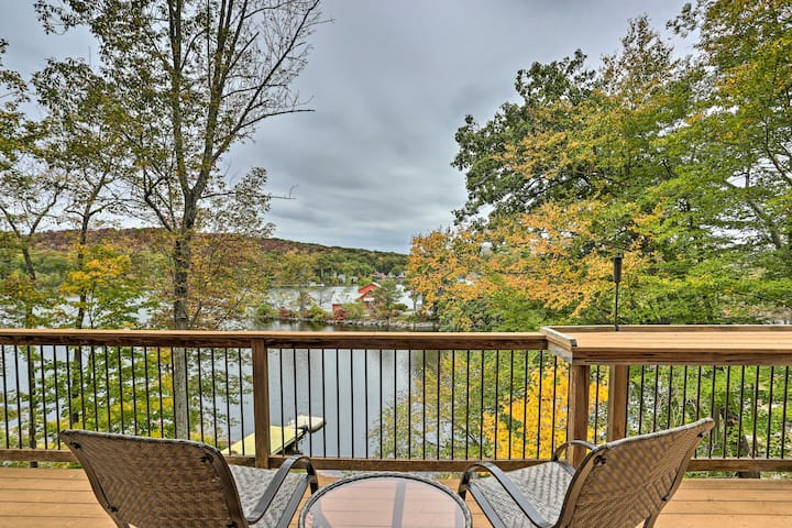 Waterfront Highland Lake Home w/ Deck+Private Dock