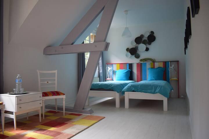 chambre coloree