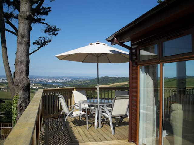 3 bedroom lodge at Whitsand Bay. - Millbrook , near Torpoint - Hytte