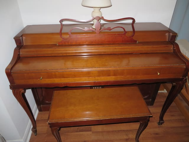 spinet piano you're welcome to play during non-quiet hours