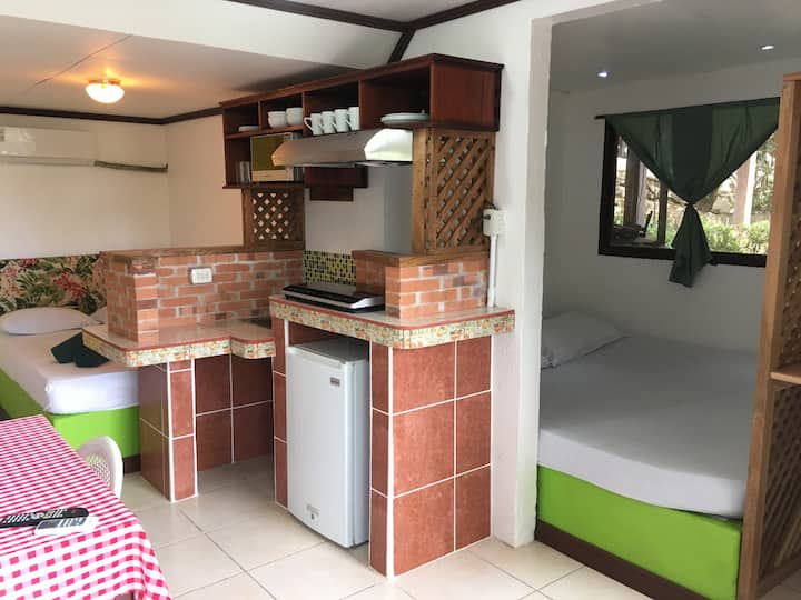Comfortable kitchenette with private entrance