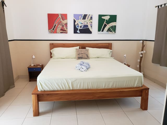 New comfortable king bed