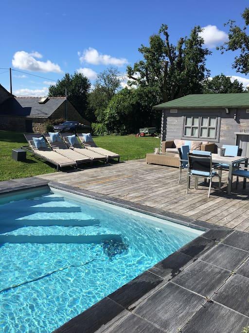 Maison piscine priv e et chauff e port de foleux h user for Week end piscine privee