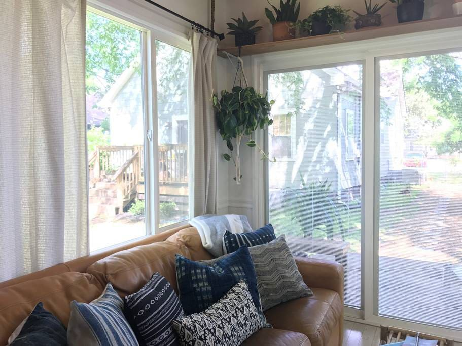 Your view consists of our backyard, our home and surrounding neighbors homes.
