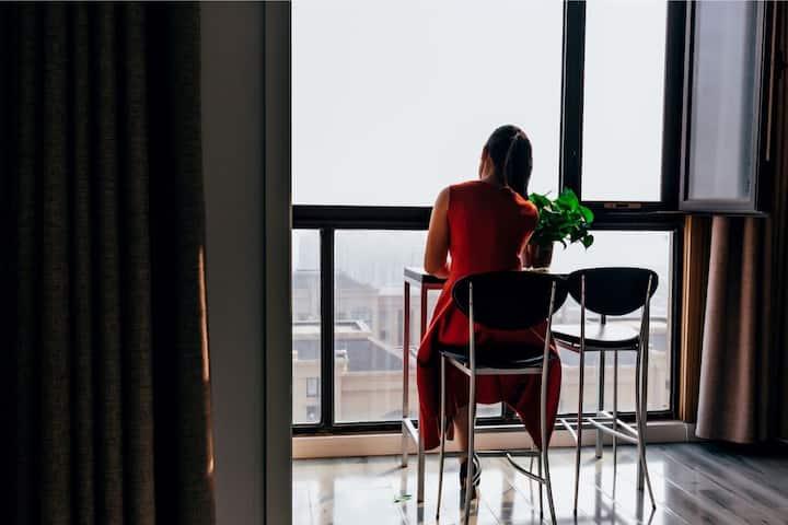 【灯火阑珊】两室--投影,近清园,新河大
