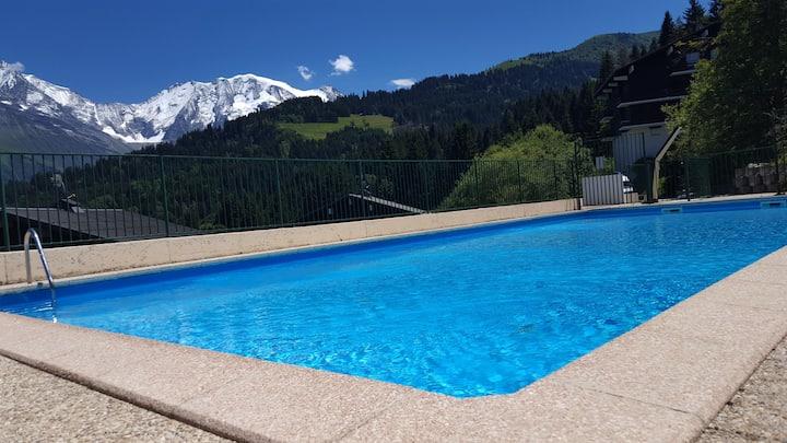 Charmant appart en plein cœur du Mont Blanc  WIFI