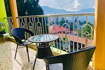 For a good morning's & afternoon's tea/coffee with panoramic view of the hills.