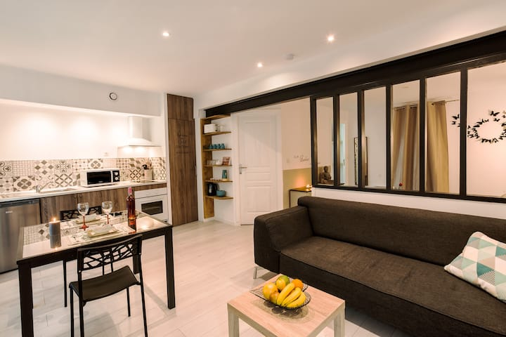 """Cosy Nid'Elne"" stylish apartment near beaches !"